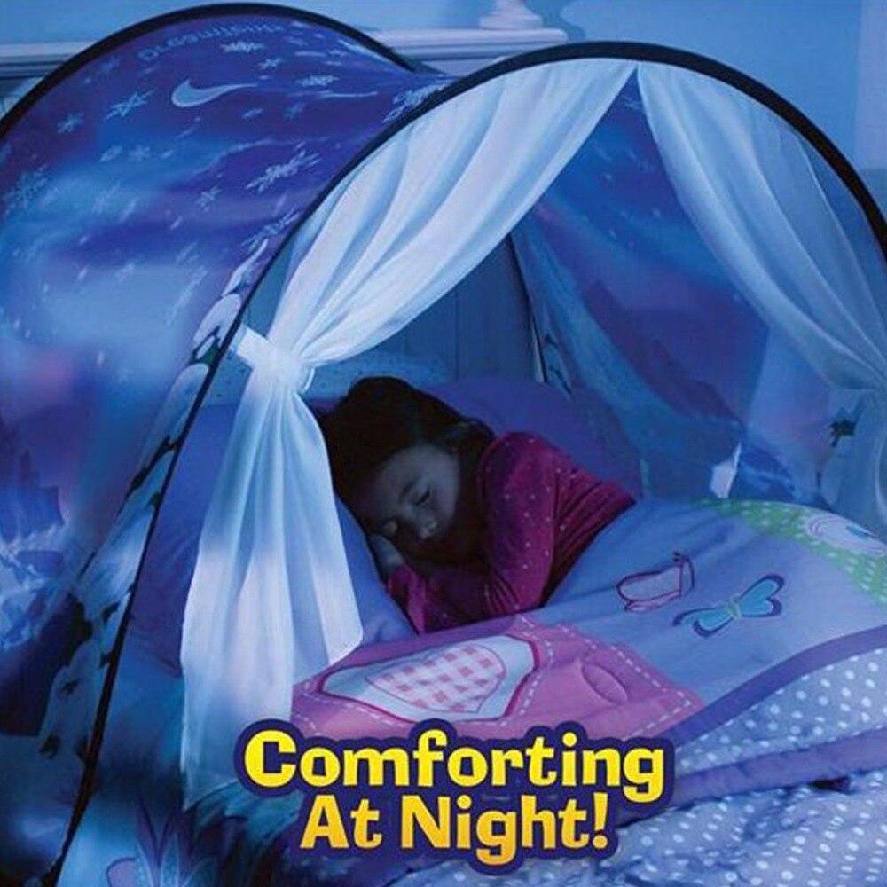 Инновационные Волшебный сон Палатки Дети всплывающие кровать Палатка Домик Зимняя сказка подарок для детей