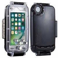 PULUZ עבור IPhone 8 & 7 40 m/130ft כיסוי מגן Case תמונה לקיחת וידאו מתחת למים שיכון צלילה עמיד למים מקרה