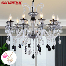 Modern Mixed Crystal Chandeliers For Living room Kitchen Restaurant lampadario vintage Light Fixtures lustre led