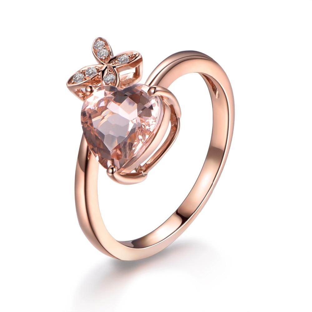 Diamantring herz gold  Online Kaufen Großhandel rosa herz diamant ring aus China rosa ...