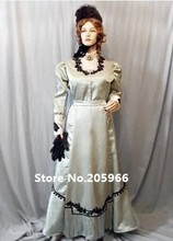 Free Shipping 1892 Victorian Costume Town Dress Includes Beaded Cape/Vintage Costume/Event Dress