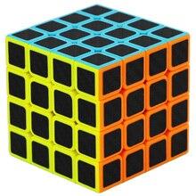 Qiyi 2020 Nieuwe 4X4X4 Carbon Fiber Magische Kubus Puzzel Speed Cubes 4X4 Puzzel Cubes professionele 4*4 Cube Voor Kinderen