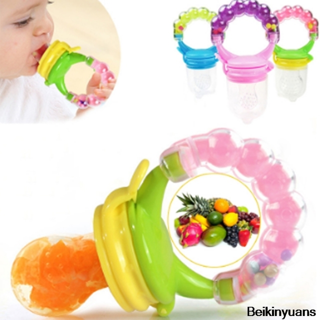 Pacifier Safe Baby Feeding Pacifiers Fruit and Vegetable Feeder Baby Feeding Tool Fresh Food Feeder Toddler Bell Toy Pacifier