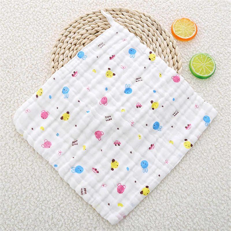 Toalla de saliva de gasa para niños, seersucker seis capas de algodón puro, pequeña bufanda cuadrada de alta densidad, pañuelo de gasa para bebé Nov2