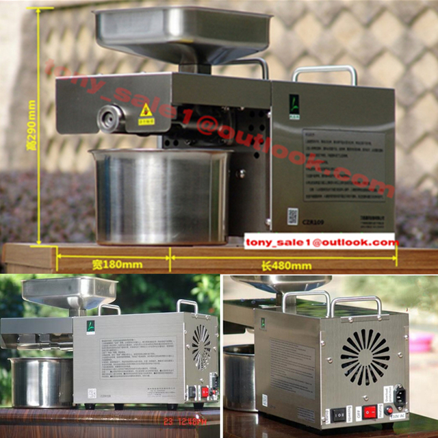 High Power Automatic Stainless Steel Mini Home Oil Press Machine Cold Hot Press For Peanut,Coconut