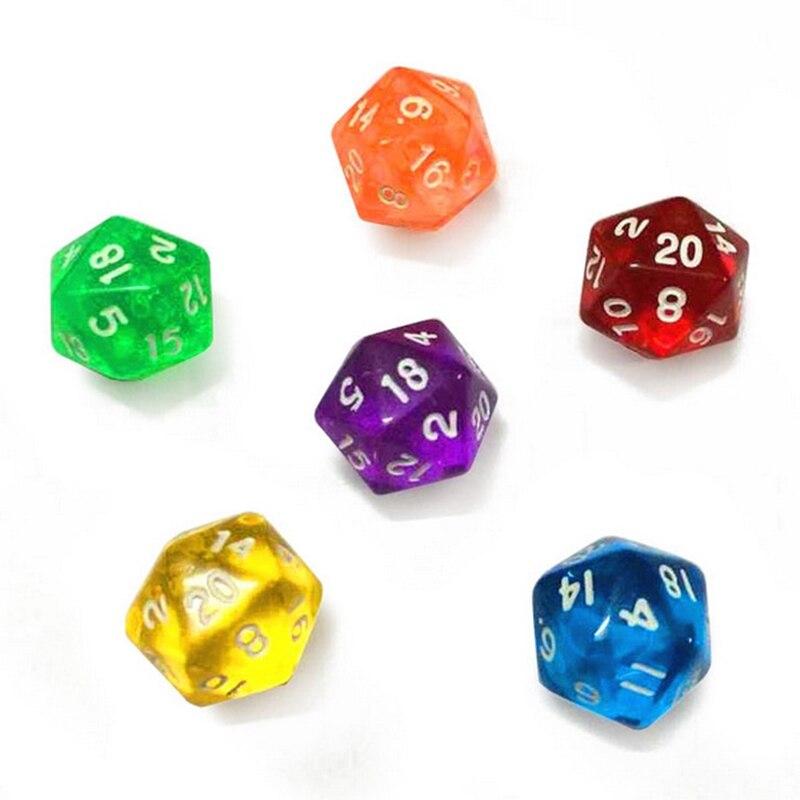 Spiele 20 STÜCKE D6 Würfel 6 Seitige Würfel für Dungeons und Dragons DND TRPG