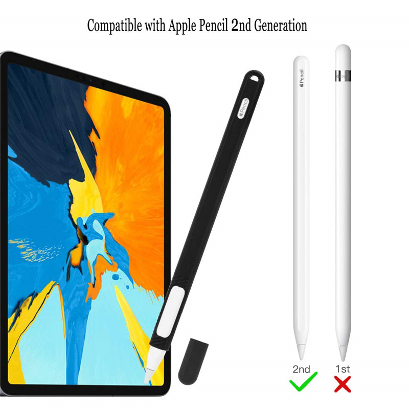 Image 4 - Silicone Holder Case for Apple Pencil 2nd Generation Ultra Light iPencil 2 Rubber Skin Sleeve Cover for ipencil2 iPad pro 2018-in MP3/MP4 Bags & Cases from Consumer Electronics