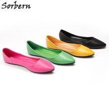 c93f16d061 Sorbern Sapatas Lisas Das Mulheres Apontou Toe Deslizamento Em Mulheres  Grávidas Confortáveis Sapatos de Saltos Baixos Deslizar .