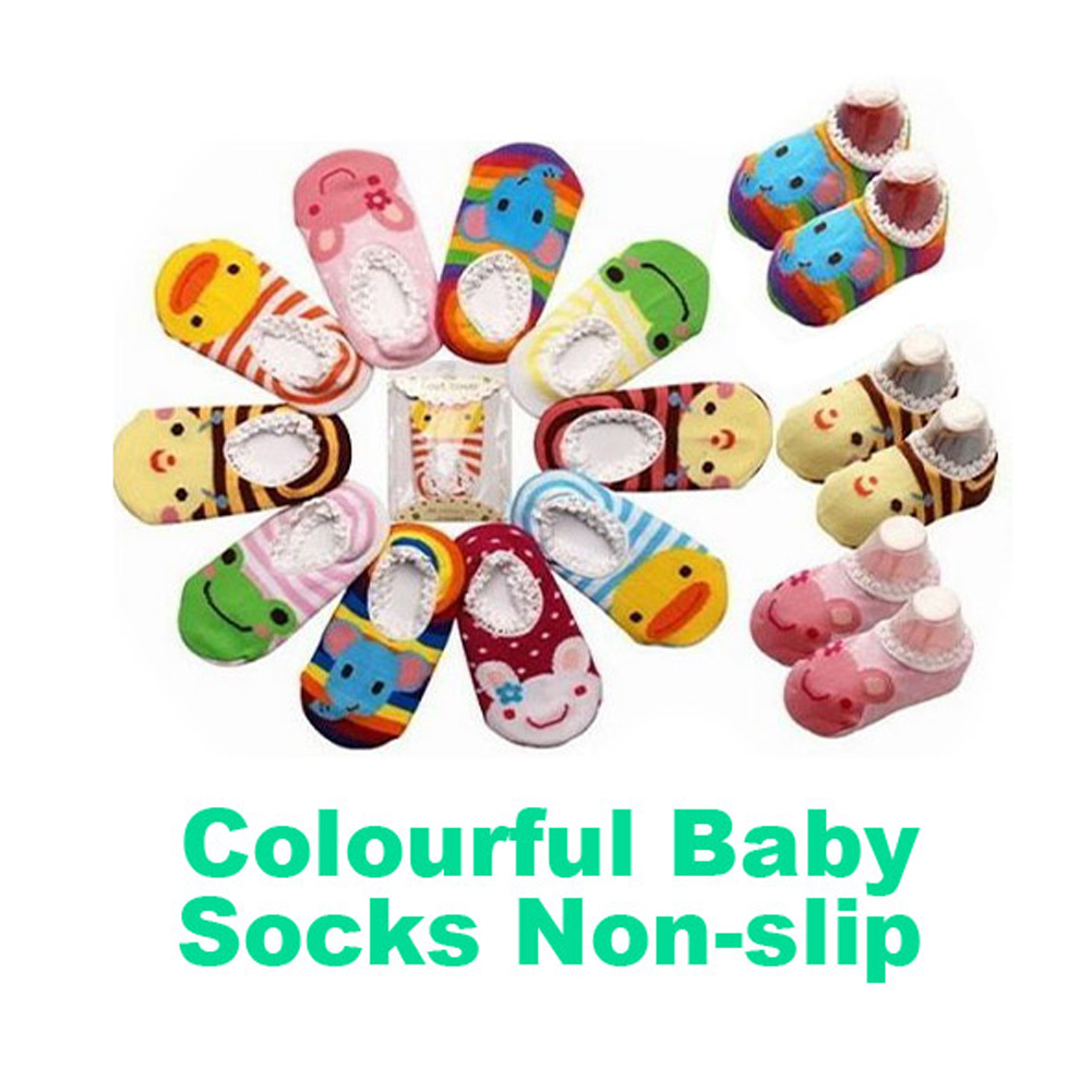 Heerlijk Hoge Kwaliteit Baby Meisje Sokken Comfortabele Katoenen Kleurrijke Dieren Patroon Non Slip Wandelen Sokken Modemerk Kleur Willekeurige Lb Wees Vriendelijk In Gebruik