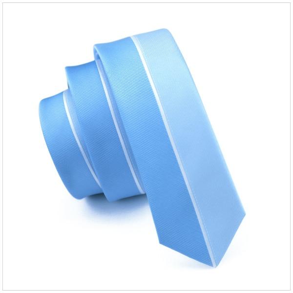 Modestil Blau Und Weiß Linie Schlank Dünne Schmale Krawatte Gravata Fixd 2016 Fashion Silk Krawatten Für Männer 5,5 Cm Breite Hochzeitskleid E-219