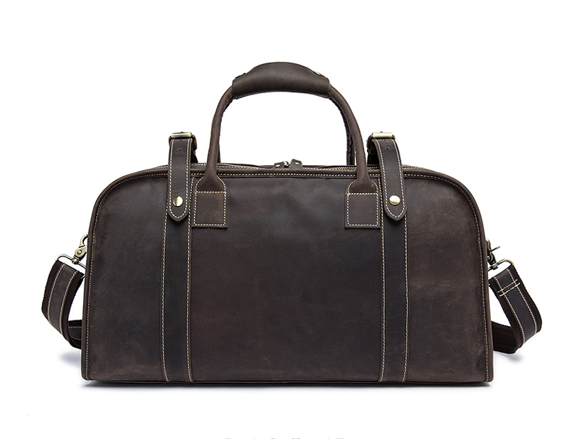 MAHEU Vintage Men s Crazy Horse Genuine Leather Travel Bag Duffle Bag Leather High Quality Handmade