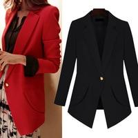 Plus Size 5XL Black Blazer Women Work Office Ladies Blazer Jacket women blazers and jackets blazer mujer 2019