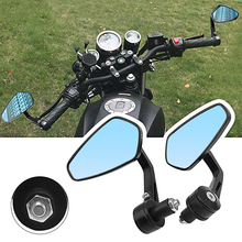 RACBOX 1pair Motorcycle Mirrors Universal for motorcycle bike soprt with 7/8 bar end retroviseur moto guidon mirror