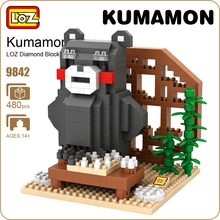 LOZ Diamond Blocks Cute Chibi Kumamon Figure Go Play Chess Japanese Anime Action Figures Bear Bricks Toys For Children Kids 9842