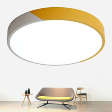 Modern Ultra-thin 5cm Double color LED Ceiling Lamps Creative Iron Round Style Lights for Living Room Bedroom Foyer