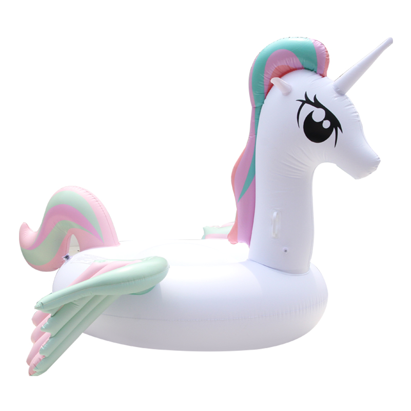 Hot Sale Pool Float Inflatable Boat Unicorn Swimming Float Adult Tube Raft Kid Swim Air Mattresses Ring Summer Water Toy hot sale pool type 0 9mm pvc inflatable swimming pool for water ball boat use