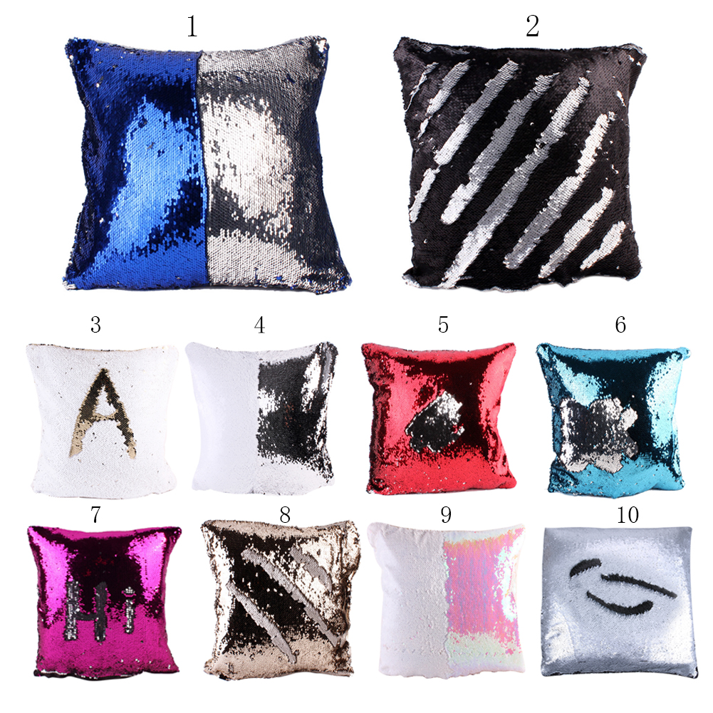 40cm*40cm Multi Patterns Homy Sequin Pillow Creative Picture Printed Design Case Househo ...