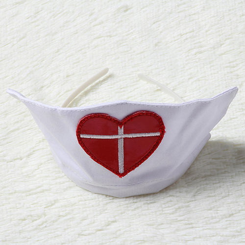 Women Sex Hollow Top G String Hat Nurse Cosplay Outfit Honeymoon Costume