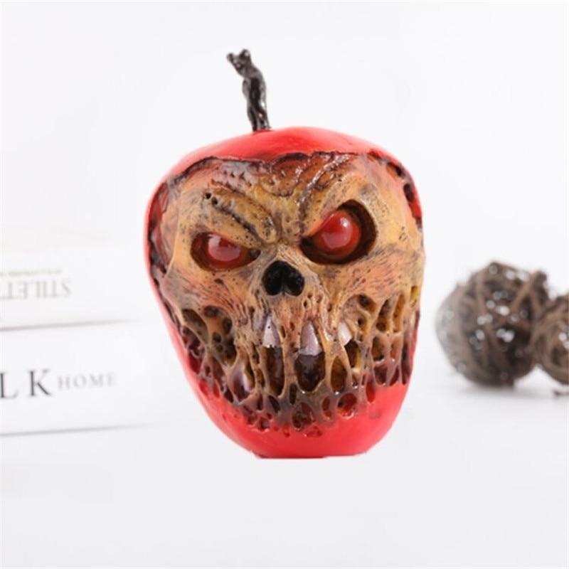 Personnalité décoration cour des morts crâne pomme rouge résine artisanat Figurines Statue créative Helloween cadeau spécial X1550