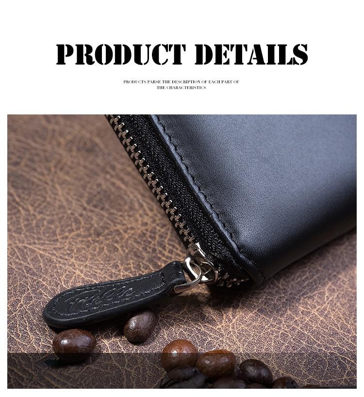 2018 New Arrival Men Äkta Bag Solid 100% Cow Läder Stor Kapacitet - Plånböcker - Foto 4