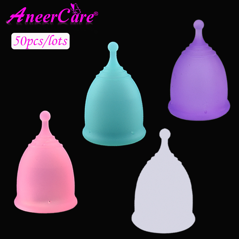 50 Pcs Menstrual cups copa menstrual de silicona medica period cup reusable soft cup feminine hygiene