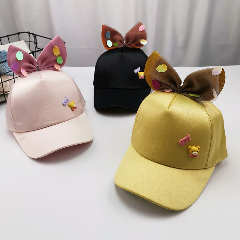 2019 Baby Boys And Girls Casual Hats Spring And Summer Caps Children Summer Cartoon Bear Sunhat Princess Baby Sun Hat Beanies