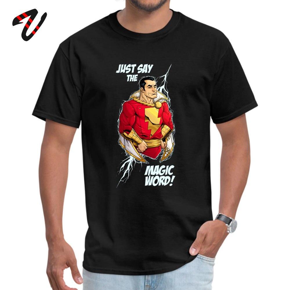 Tops T Shirt Shazam T-Shirt Mother Day Dominant Unique Short Sleeve 100% Cotton Crewneck Men T-Shirt Unique Top Quality Shazam 11790 black
