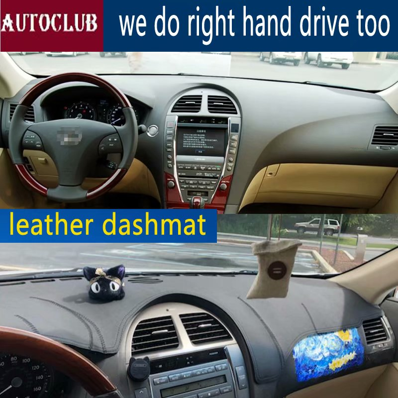 For Lexus ES240 Es350 2006-2012  Leather Dashmat Dashboard Cover Car Pad Dash Mat SunShade Carpet Cover 2007 2008 2009 2010 2011