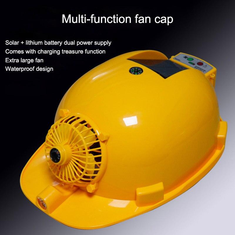 Sicherheit & Schutz Schutzhelm Solar Fan Cap Sicherheit Helm Dual Stromversorgung Arbeits Lüftung Kühlung Beleuchtung Wiederaufladbare Solar Power Harten Hut Verkaufsrabatt 50-70%