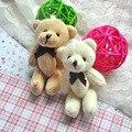 50pcs/lot Kawaii Small Joint Teddy Bears Stuffed Plush 8CM Toy Teddy-Bear Mini Bear Ted Bears Plush Toys With Bow Gifts 106