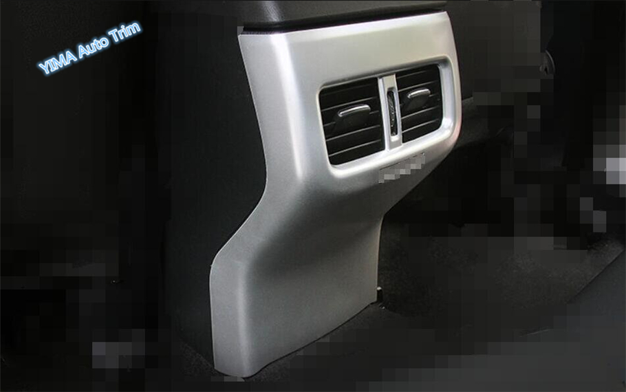 Lapetus For Mazda CX-5 CX5 2017 2018 ABS Auto Styling Armrest Box Rear Air Conditioning AC Vent Outlet Frame Cover Trim 1 Piece 5 pcs lot car outlet perfume original auto perfumes air freshener car air conditioning vent clip flavor piece 5 flavor styling