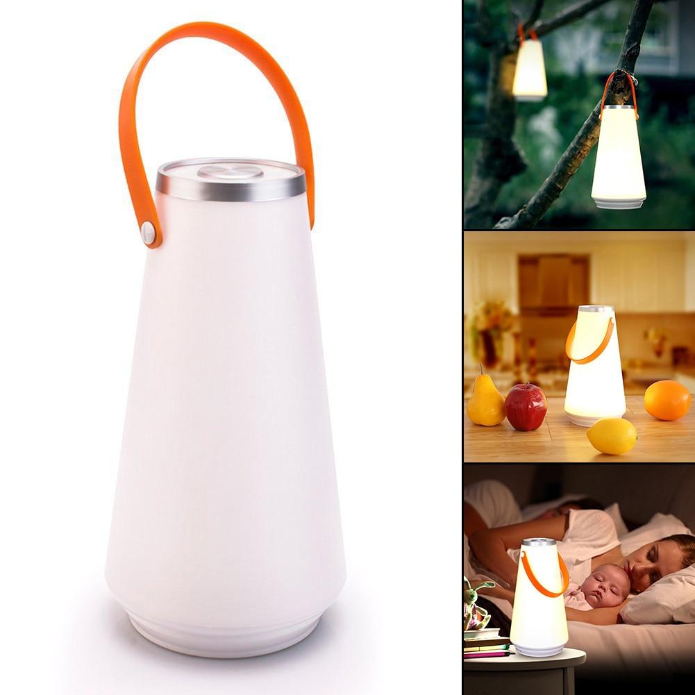 Encantador creativo portátil inalámbrico LED lámpara de mesa de luz de noche recargable USB Interruptor táctil al aire libre Camping luz de emergencia