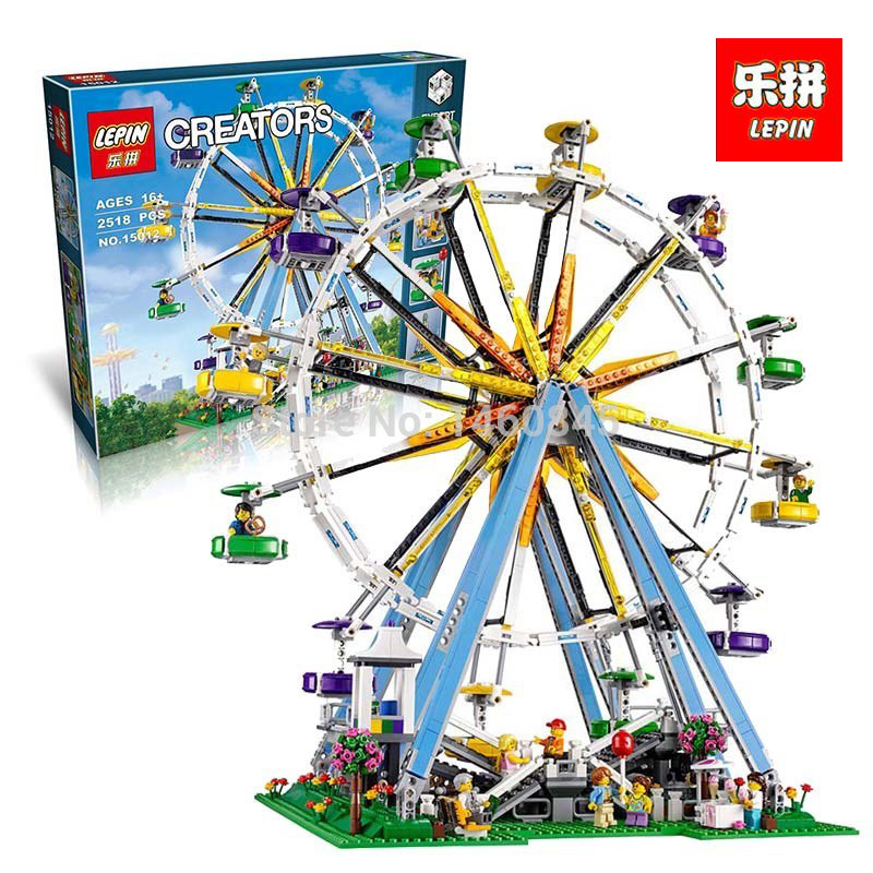 LEPIN 15012 2478Pcs City Expert Ferris Wheel Model Building Kits Block Bricks Compatible Toy 10247 DIY Educational legoING Gift lepin 15012 2478pcs city series expert ferris wheel model building kits blocks bricks lepins toy gift clone 10247
