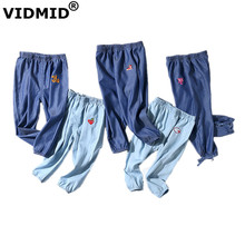 hot deal buy vidmid kids summer girls boys cotton pants children's jeans pants trousers for baby girls and boys casual pants clothes 7073 02