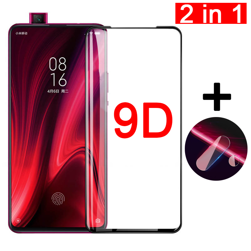 2 in 1 9D Protective Glass for Xiaomi Mi 9T Pro Screen Camera Lens Tempered Glass Protector on the Xiomi Mi9T Pro Mi9tpro Film(China)