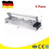 Professional Commercial Bain Marie For Restaurant Hotel Electric Countertop Food Warmer Kitchen Equipment