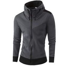 2019 New Mens Hoodies and Sweatshirts Zipper Hooded Male Clothing Fashion Military Hoody For Men Hit color