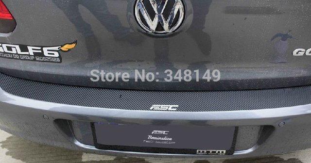 Aliauto car styling carbon fiber sticker scratch protection rear bumper car stickers accessories for volkswagen