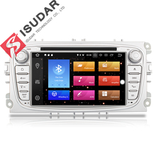 Isudar Car Multimedia player GPS Android 8.0 2 Din Octa Core Per FORD/Focus/S-MAX/Mondeo/ c-MAX/Galaxy Videocamera vista posteriore DVR wifi