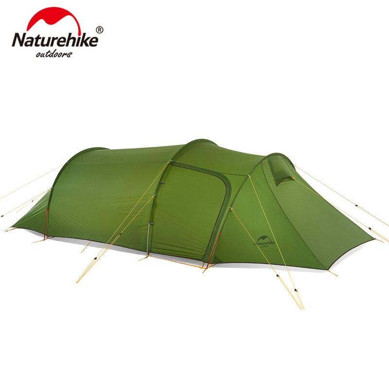 Carpa de túnel Naturehike Ultralight Opalus para 3 personas 20D/210 T de tela para Camping NH17L001-L con huella gratuita