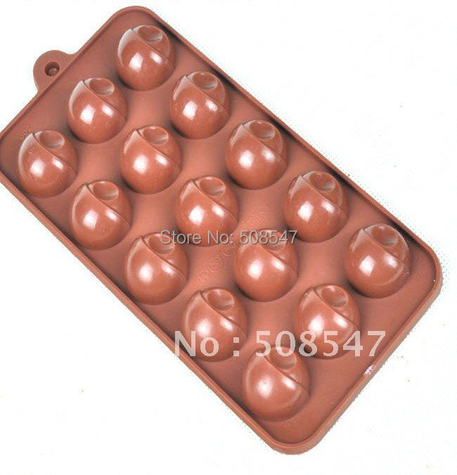 Silicone 15 Shapes Round Ball Eye Egg Cake Mould Chocolate