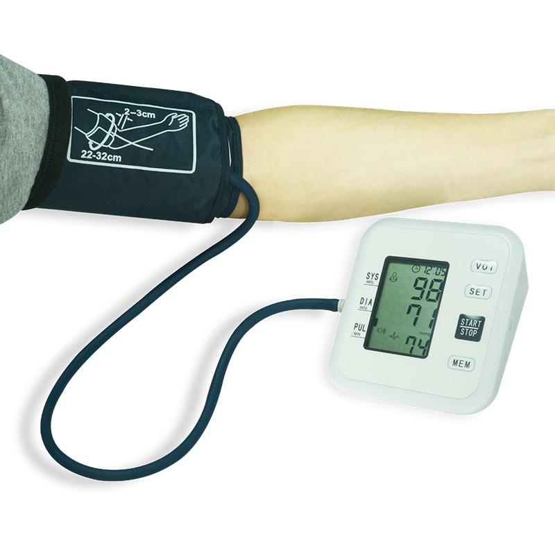 Pelvifine Kezdőlap Egészségügy Digitális LCD Felső kar Vérnyomásmérő Szív Beat Meter Machine Tonométer automatikus mérés