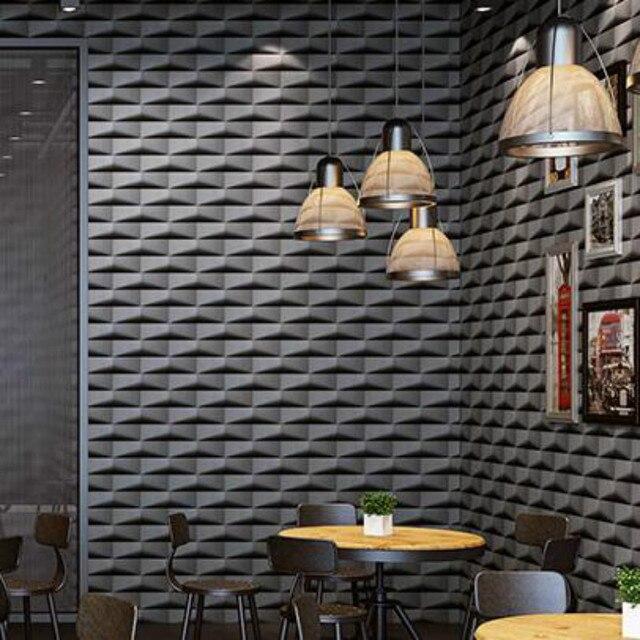 Grey,White Vinyl Modern 3d Stereoscopic Pattern Wallpaper For Office  Bedroom Living Room Walls Luxury Wall Paper Roll Waterproof