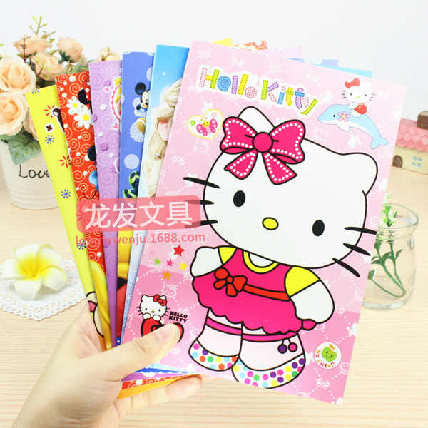 4 Pcs Small Yellow Notebook Person Large White Kt Cat Cartoon