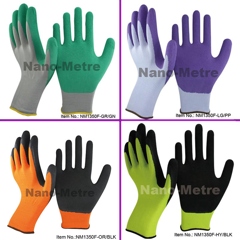 NMSafety New Multi Colors Foam latex Coating Palm Garden Gardening Work Gloves