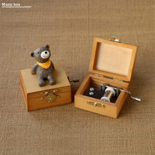 Nice Cute Little Animal Hand Wooden Music Box Music