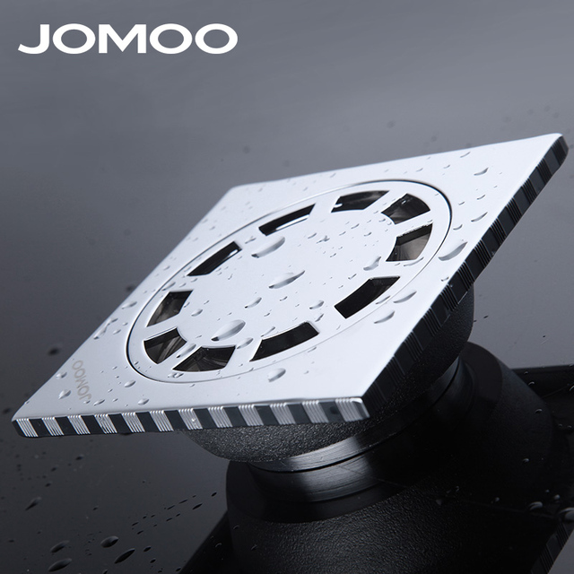 JOMOO Floor Drain Stainless Steel Deodorization Square Shape Chrome Plate  Bathroom Drain Shower Drain Brand High
