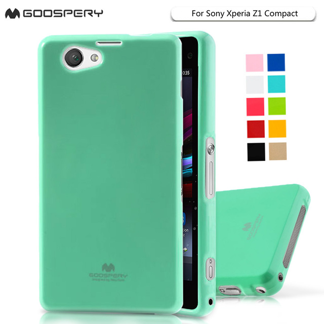 Goospery Z1mini Glittery Powder Soft TPU Cover Case for Sony Xperia Z1 Mini Z1 Compact Z1mini D5503 TPU Soft Cover