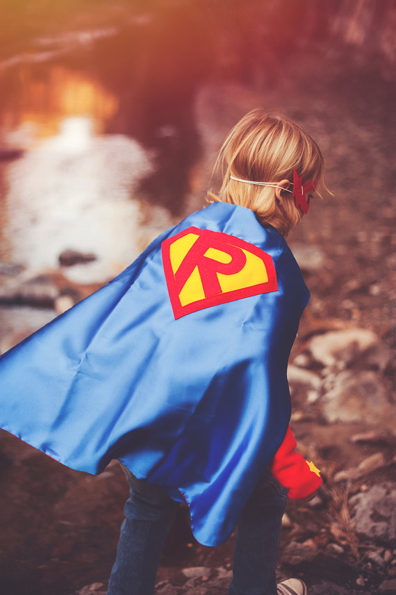Personalized Superman Kid's Cape,free Mask  Birthday Gift Custom Super Hero Party Cape Halloween Cape  38letters Can Choose