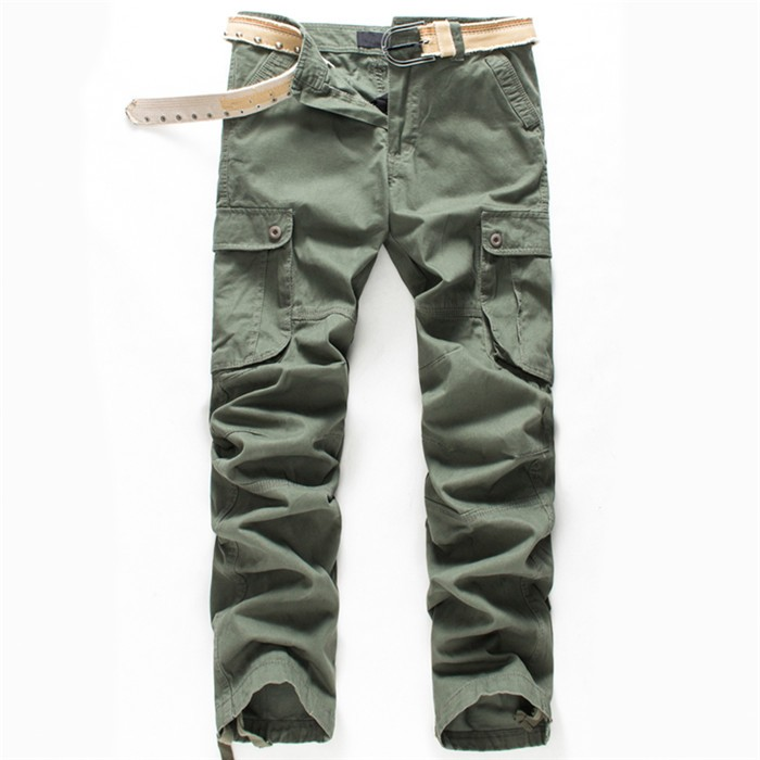 BOLUBAO New Men Cargo Pants Men Multi Pockets Pants Military Camouflage Track Pants Trousers Mens Elastic Waist Pant 34